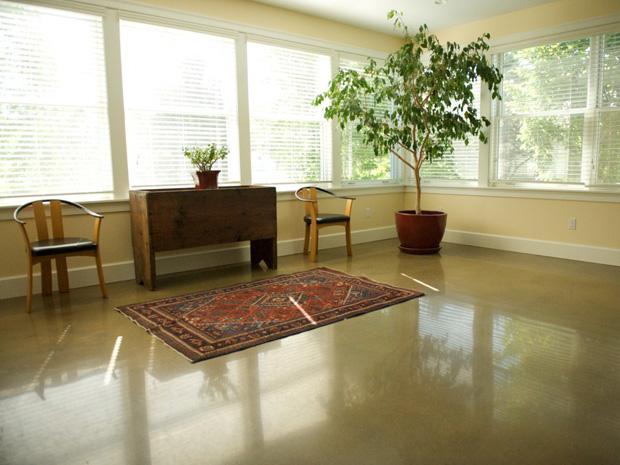 Floors jon meade design polished concrete surfaces - Concrete floor living room ...
