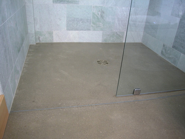 Comconcrete Floor Base : Polished Concrete Shower Floor